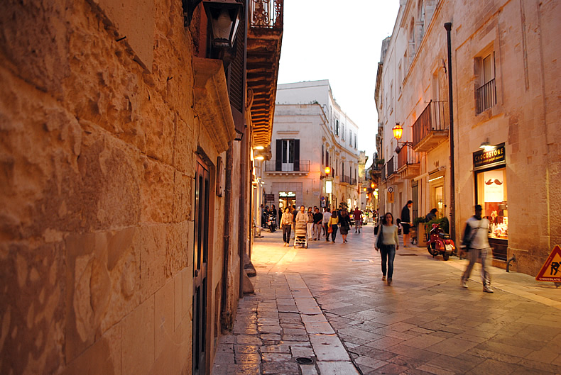 レッチェの町中 Leece city in south of Italy ,puglia